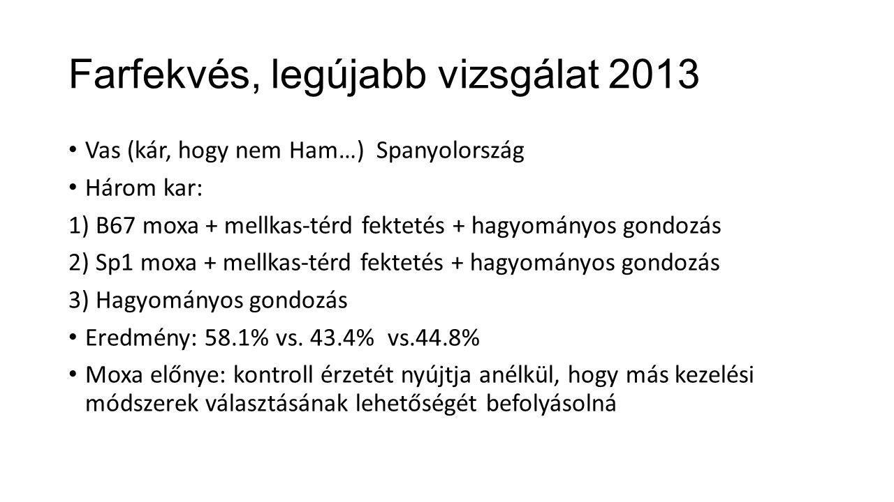 Farfekvés, legújabb vizsgálat 2013