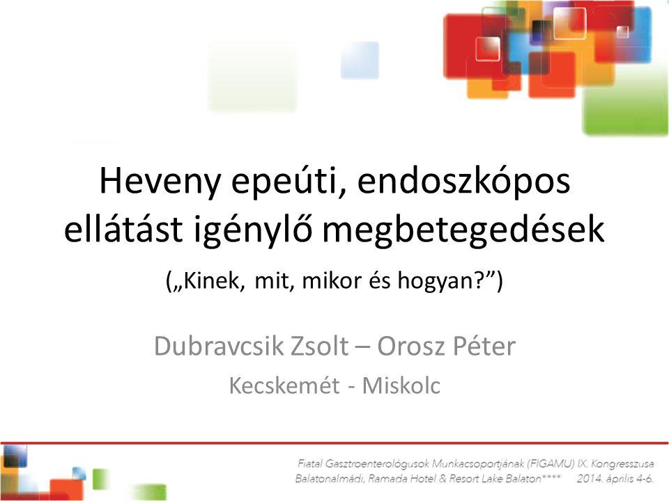 Dubravcsik Zsolt – Orosz Péter Kecskemét - Miskolc