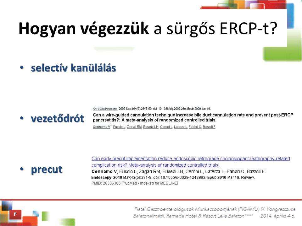 Hogyan végezzük a sürgős ERCP-t