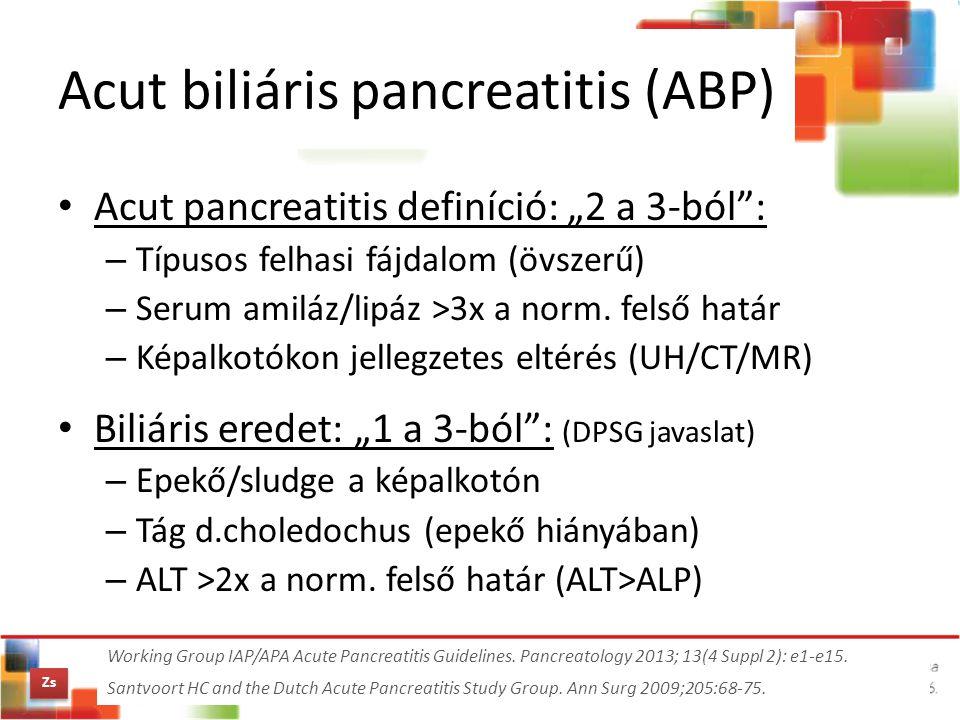 Acut biliáris pancreatitis (ABP)