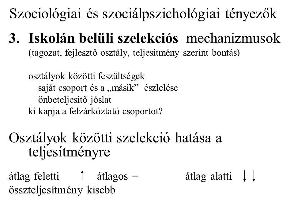 Szociológiai és szociálpszichológiai tényezők