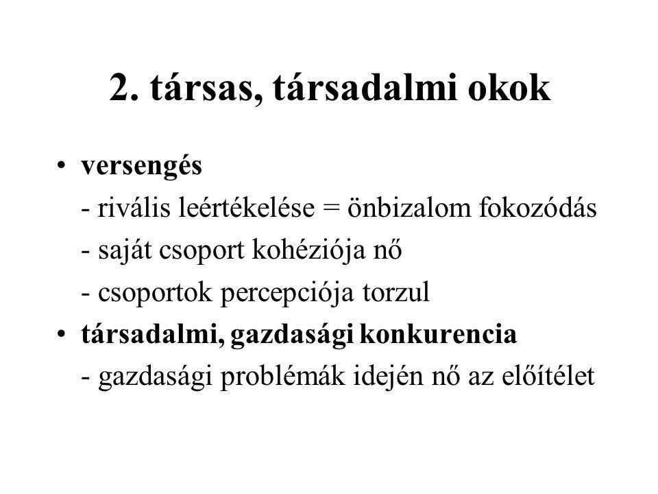 2. társas, társadalmi okok