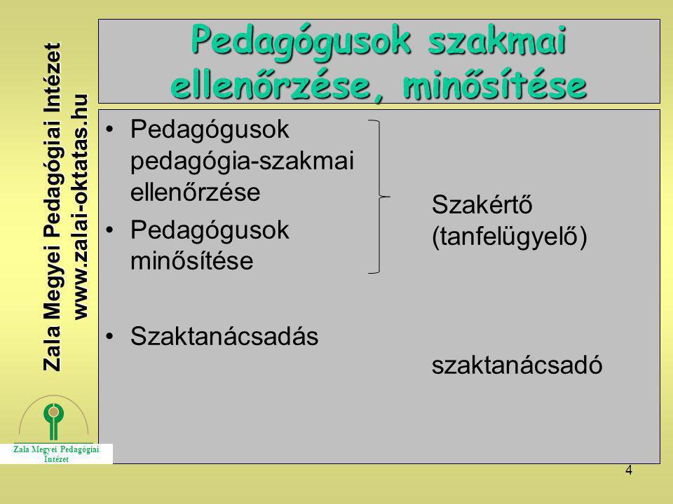 Pedagógusok szakmai ellenőrzése, minősítése