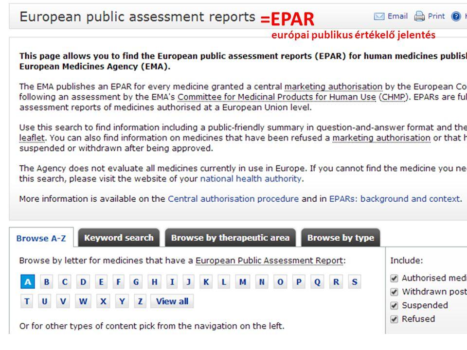 =EPAR európai publikus értékelő jelentés