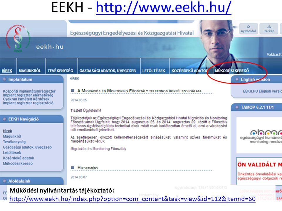 EEKH - http://www.eekh.hu/