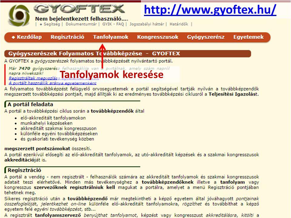 http://www.gyoftex.hu/ Tanfolyamok keresése