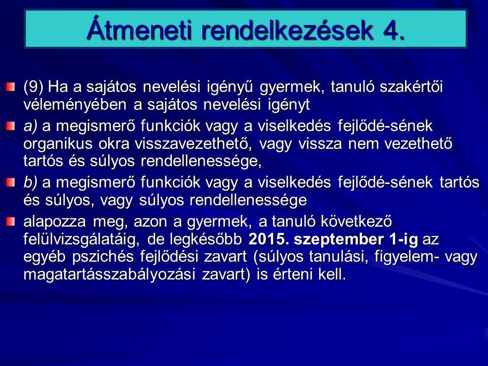 Átmeneti rendelkezések 4.