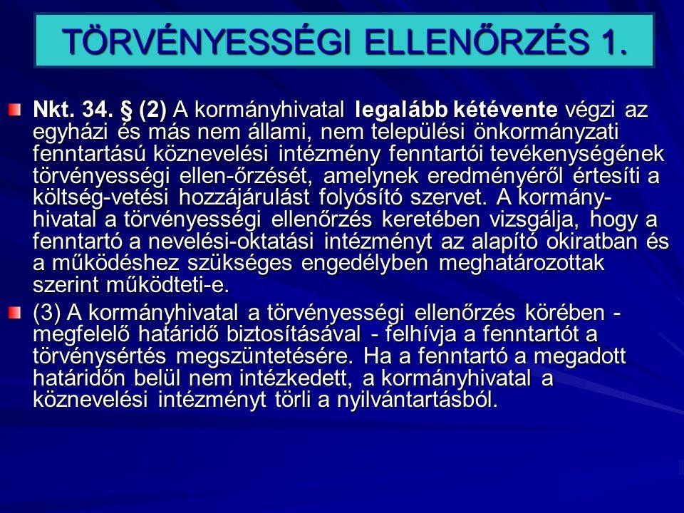 TÖRVÉNYESSÉGI ELLENŐRZÉS 1.