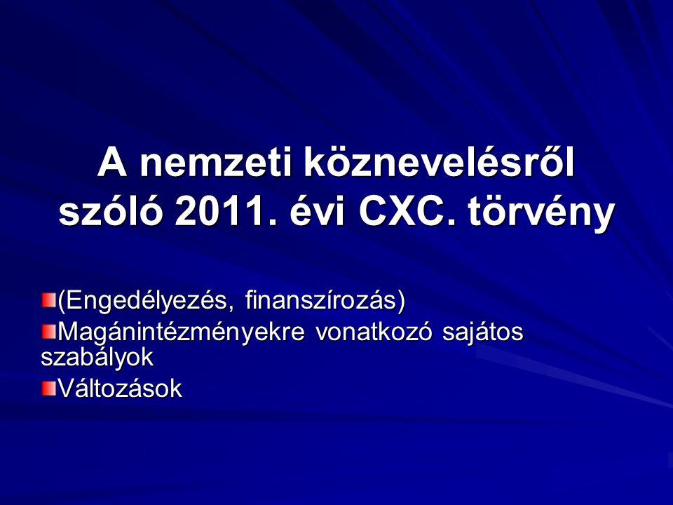 A nemzeti köznevelésről szóló 2011. évi CXC. törvény