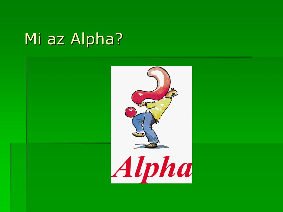 Mi az Alpha