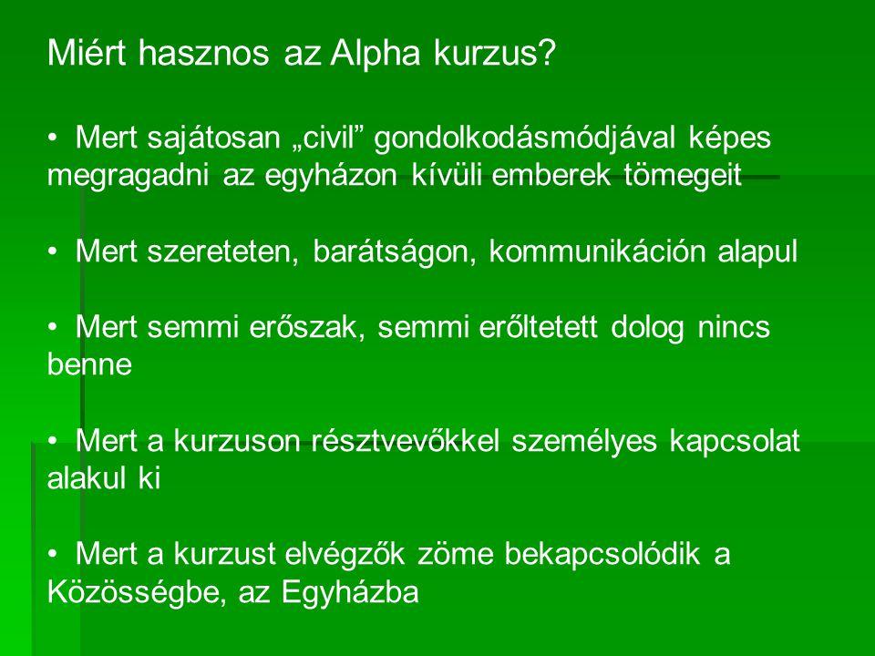 Miért hasznos az Alpha kurzus