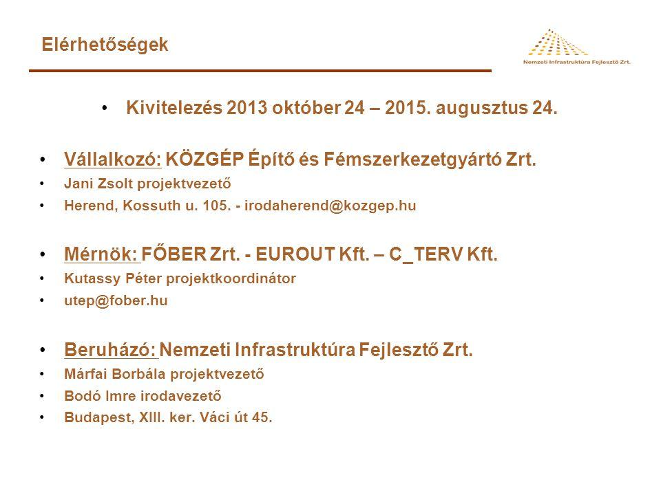 Kivitelezés 2013 október 24 – 2015. augusztus 24.