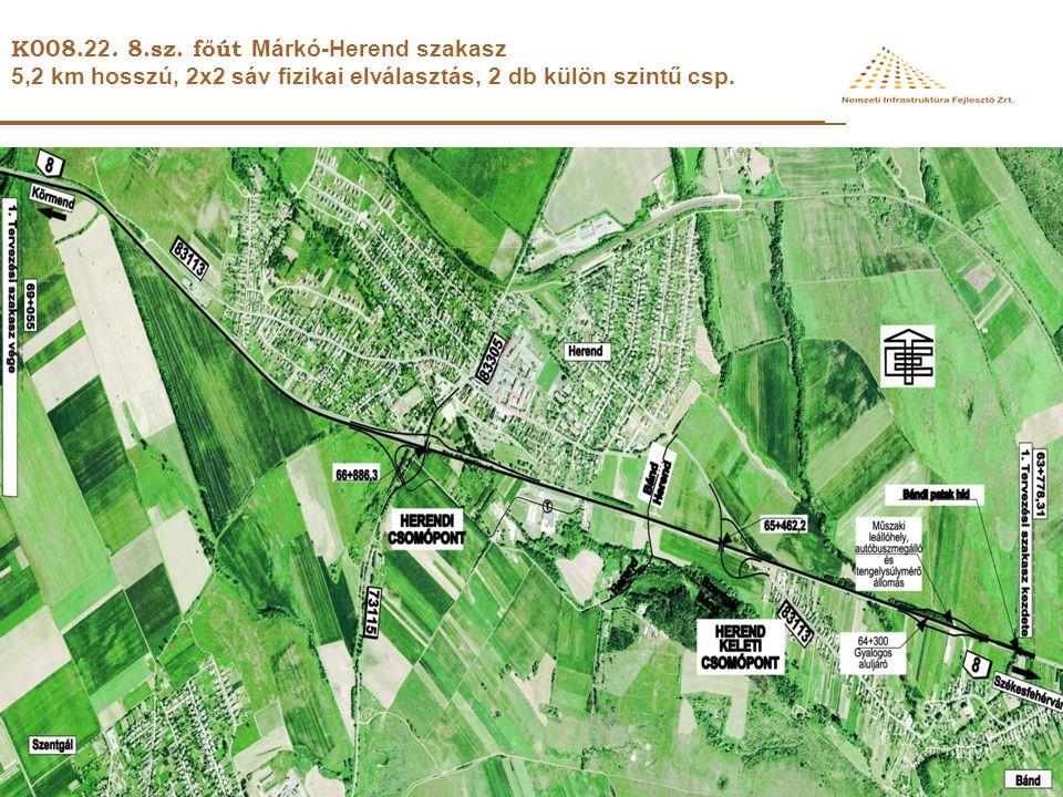 K008.22. 8.sz. főút Márkó-Herend szakasz