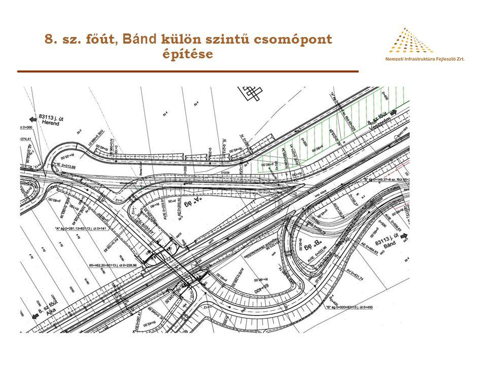8. sz. főút, Bánd külön szintű csomópont építése