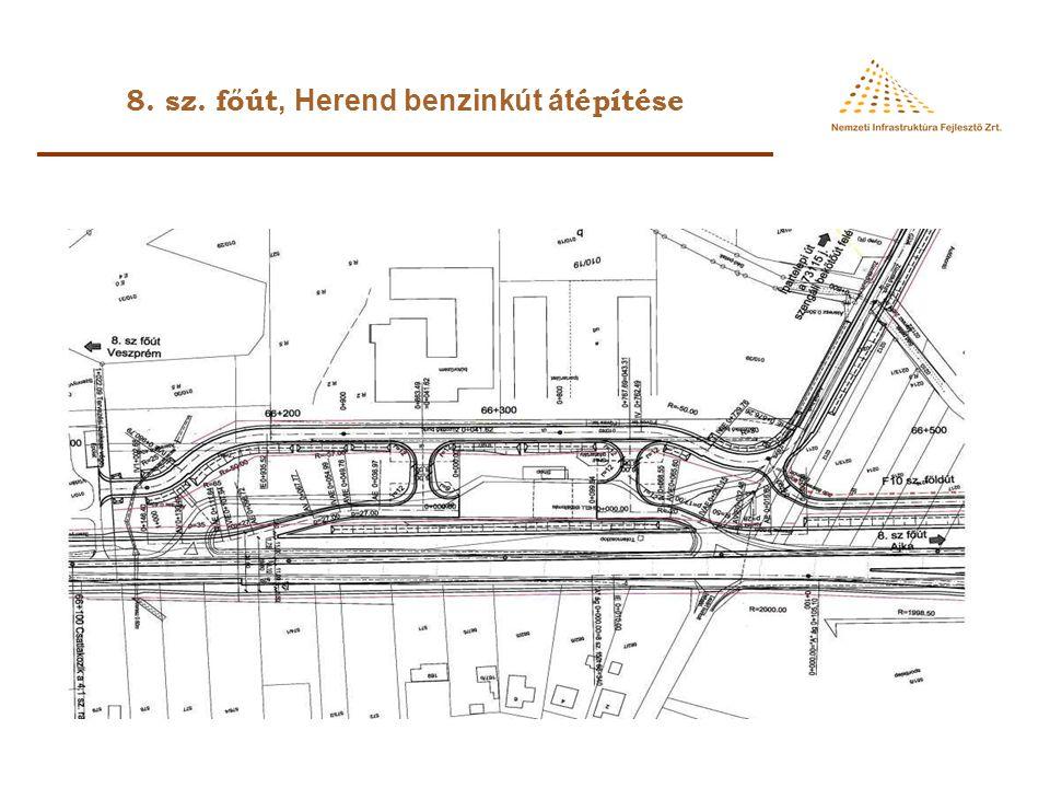 8. sz. főút, Herend benzinkút átépítése