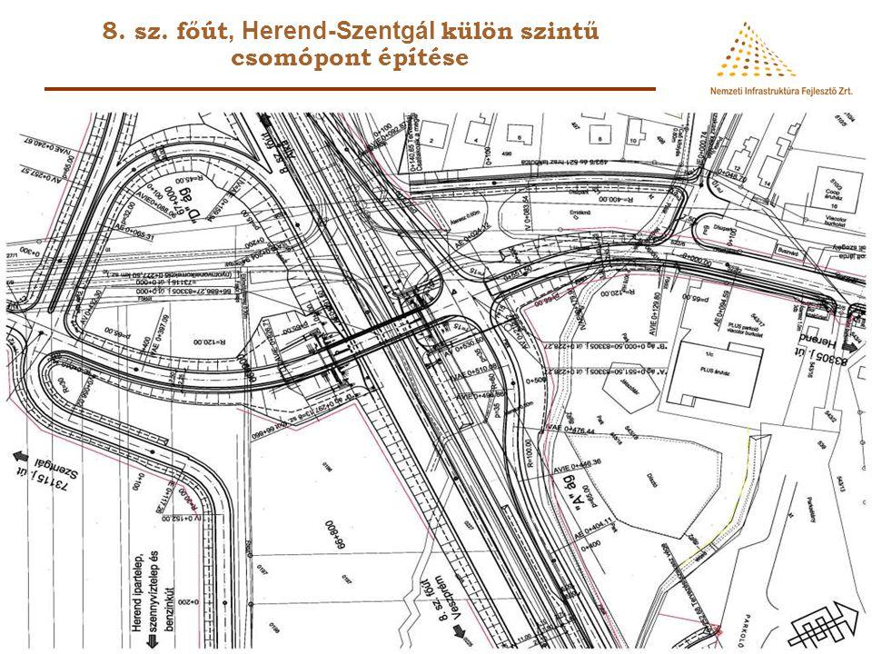 8. sz. főút, Herend-Szentgál külön szintű csomópont építése