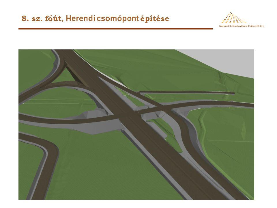 8. sz. főút, Herendi csomópont építése
