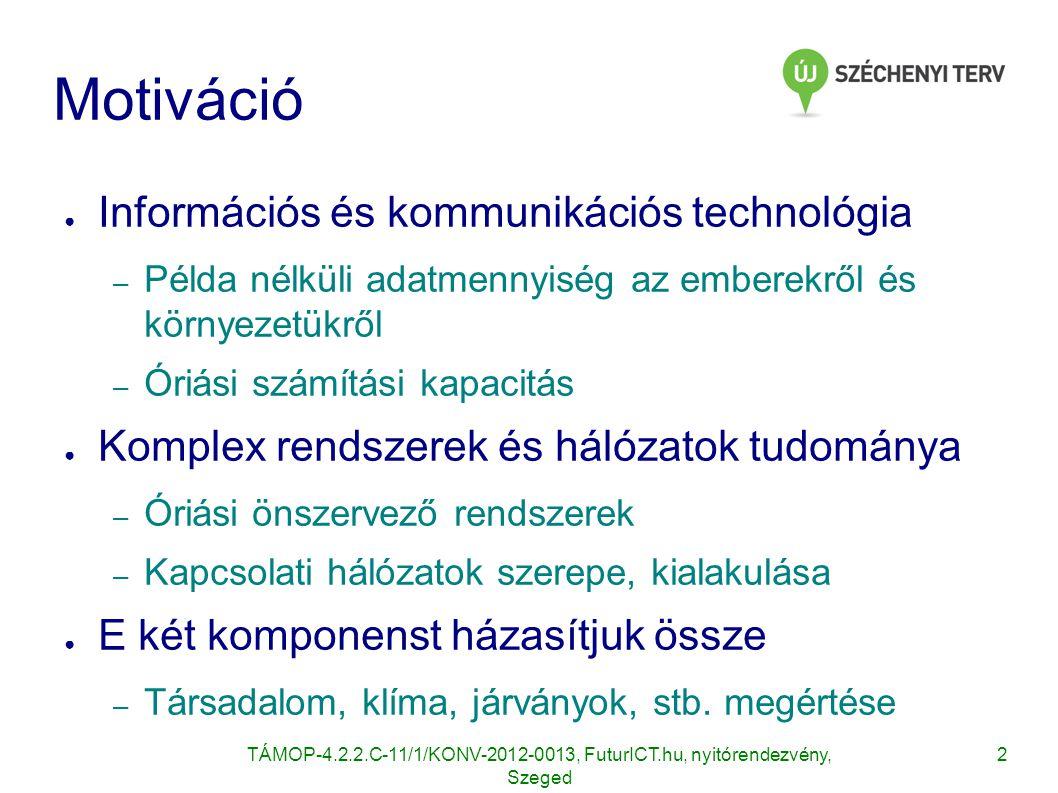Motiváció Információs és kommunikációs technológia