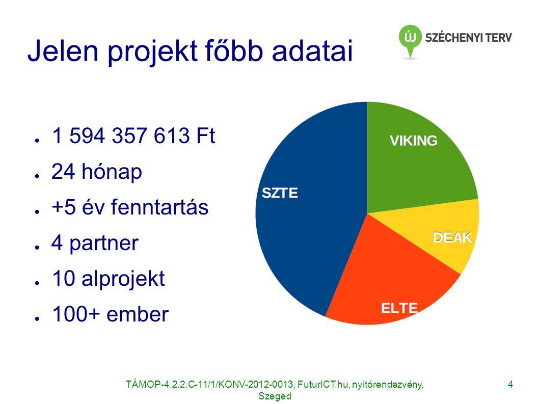 Jelen projekt főbb adatai
