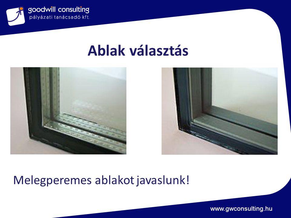 Ablak választás Melegperemes ablakot javaslunk!