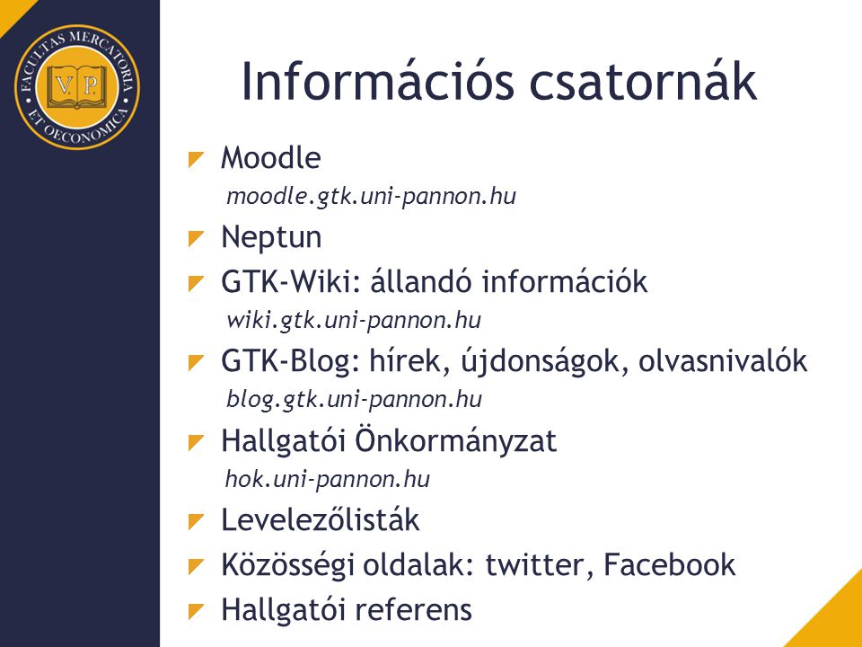 Információs csatornák
