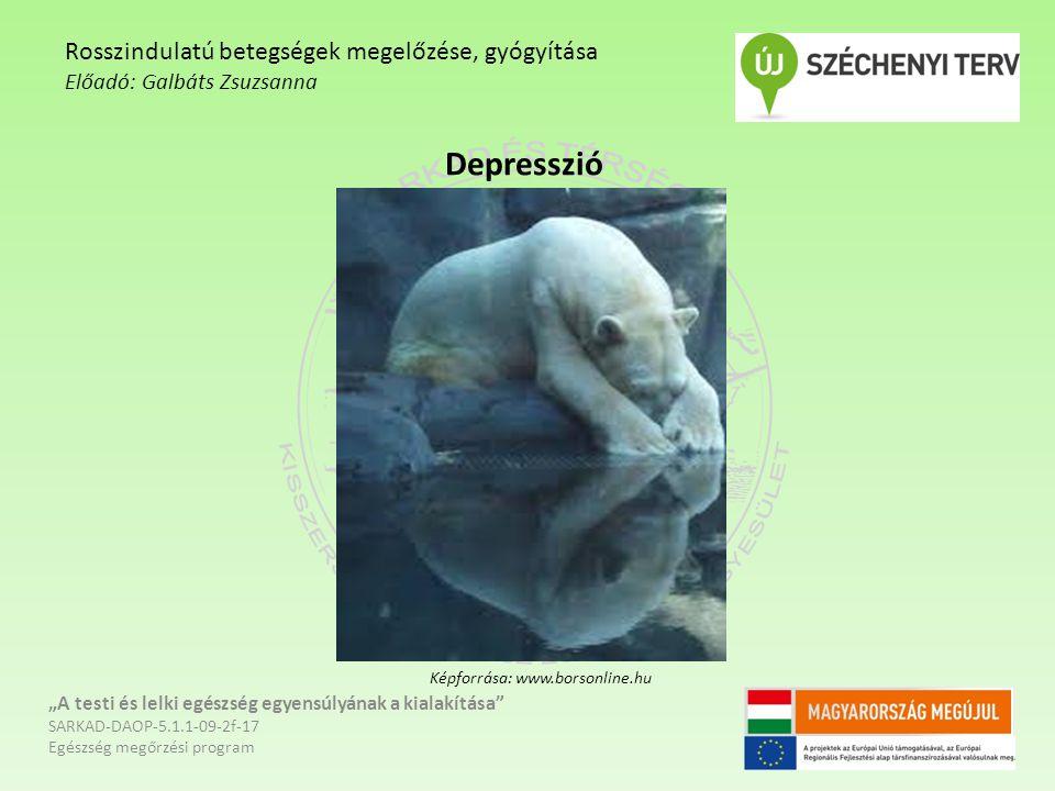 Depresszió Rosszindulatú betegségek megelőzése, gyógyítása