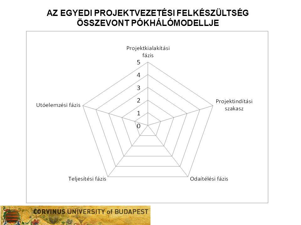 Az egyedi projektvezetési felkészültség összevont pókhálómodellje