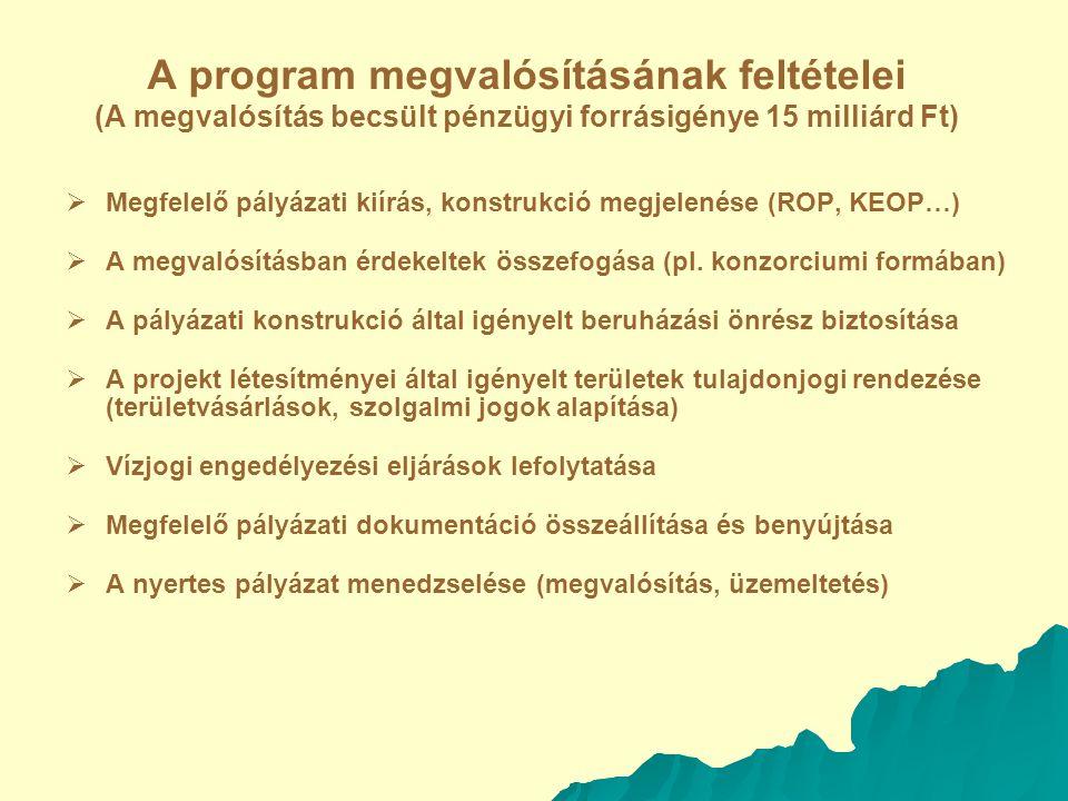 A program megvalósításának feltételei (A megvalósítás becsült pénzügyi forrásigénye 15 milliárd Ft)