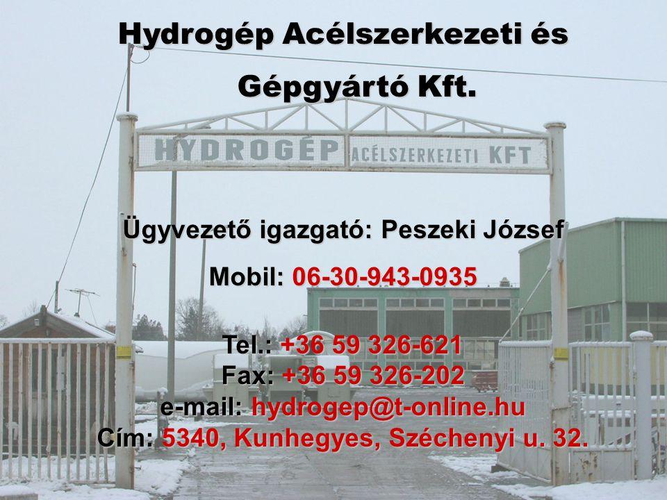 Hydrogép Acélszerkezeti és Gépgyártó Kft.