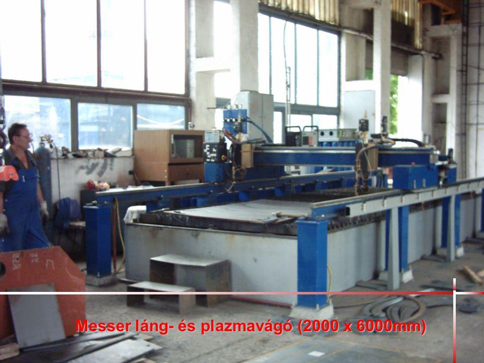 Messer láng- és plazmavágó (2000 x 6000mm)