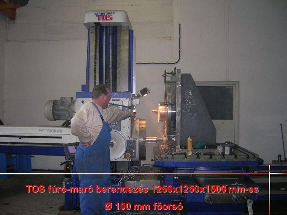 TOS fúró-maró berendezés 1250x1250x1500 mm-es