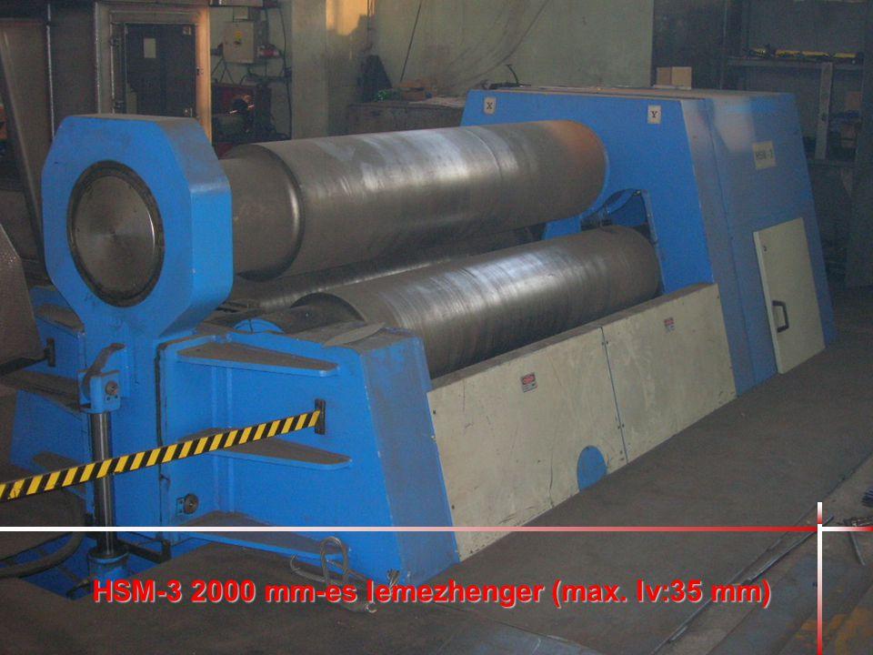 HSM-3 2000 mm-es lemezhenger (max. lv:35 mm)