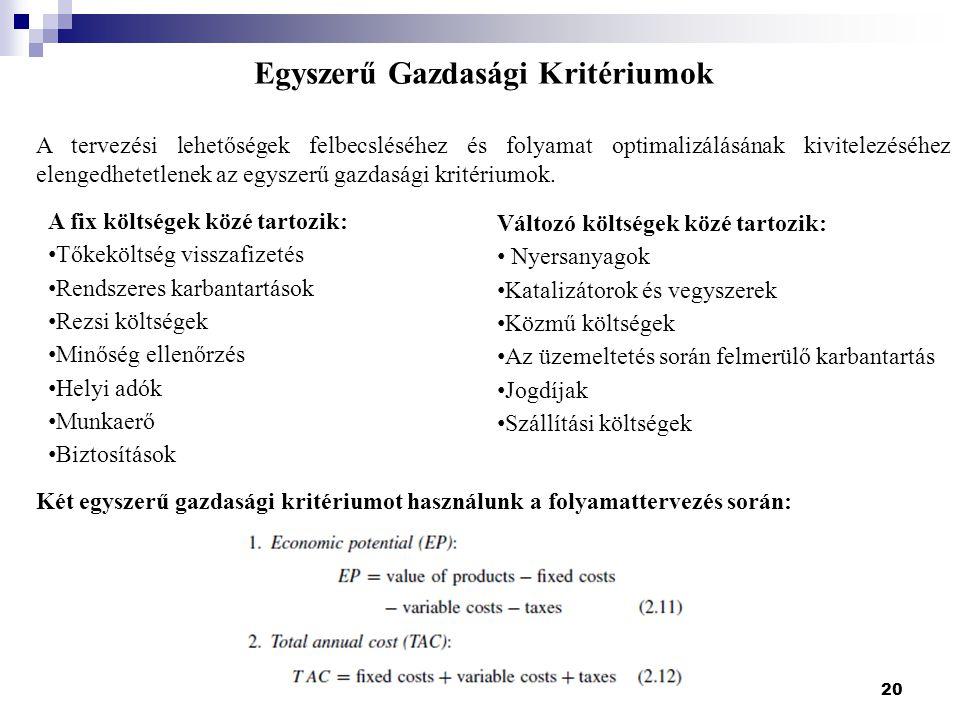Egyszerű Gazdasági Kritériumok