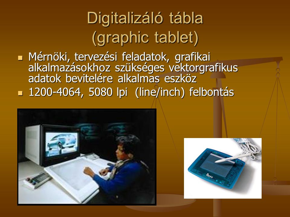 Digitalizáló tábla (graphic tablet)
