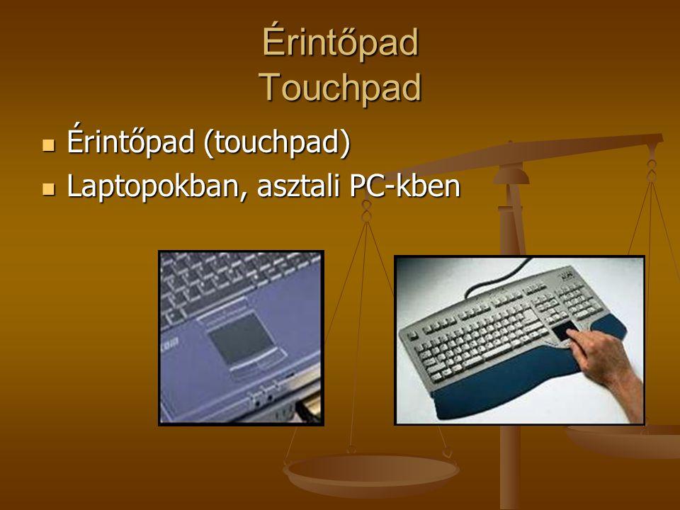 Érintőpad Touchpad Érintőpad (touchpad) Laptopokban, asztali PC-kben