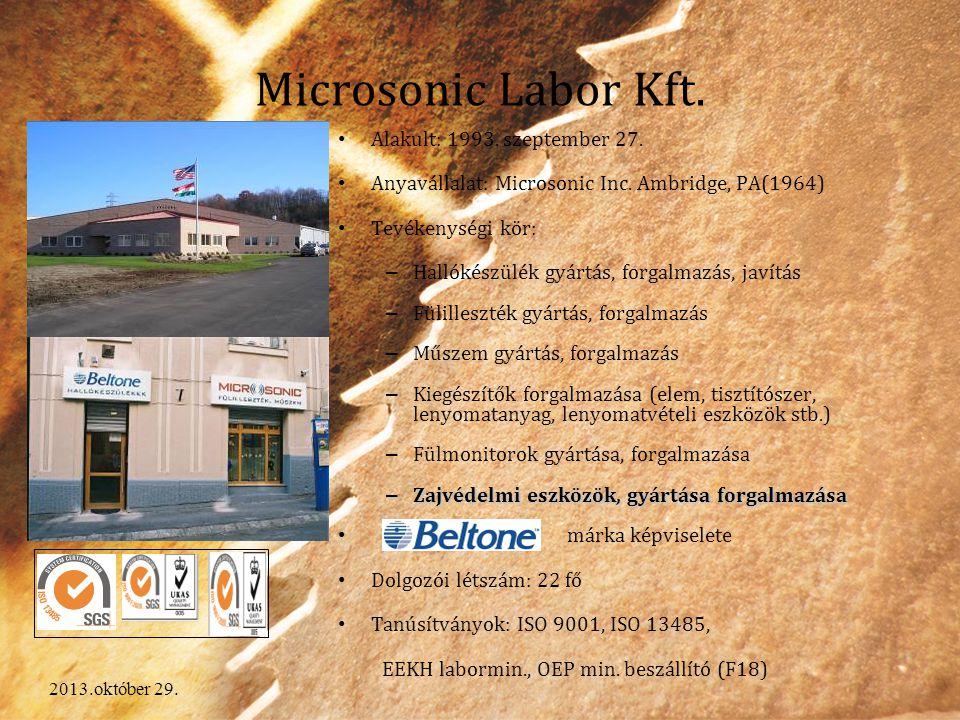 Microsonic Labor Kft. Alakult: 1993. szeptember 27.