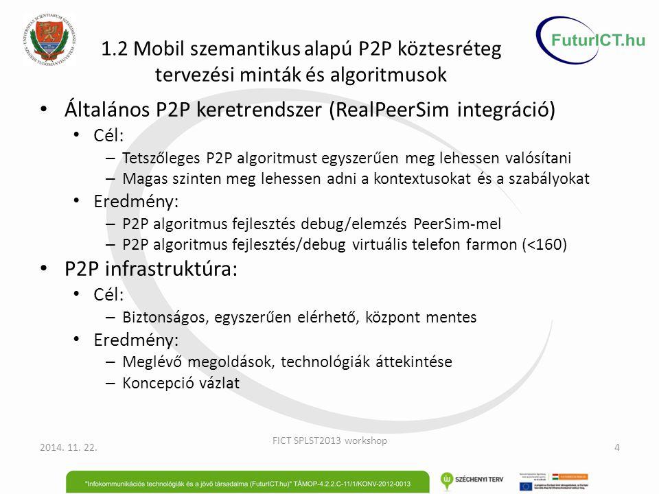 Általános P2P keretrendszer (RealPeerSim integráció)