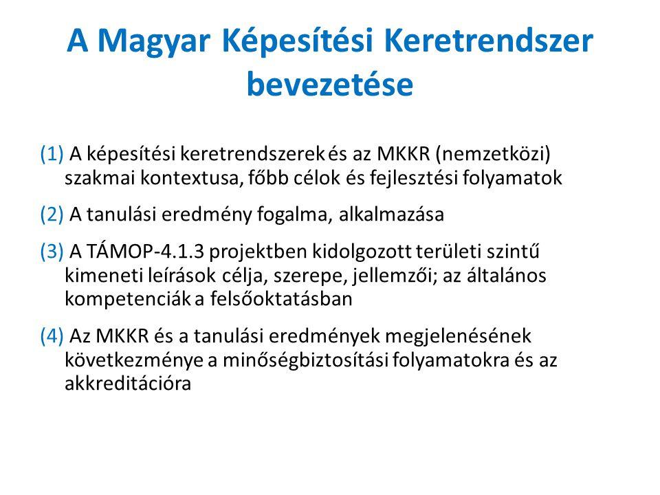 A Magyar Képesítési Keretrendszer bevezetése