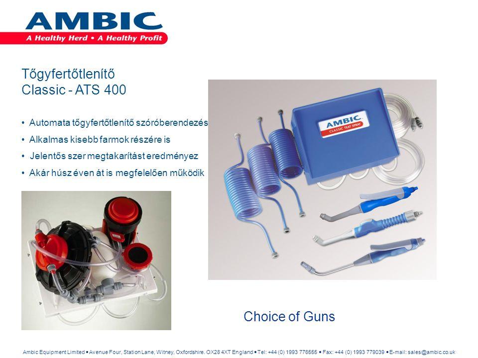 Tőgyfertőtlenítő Classic - ATS 400 Choice of Guns
