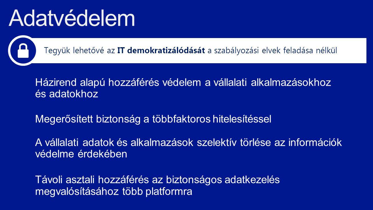 TechEd 2013 4/7/2017 8:01 AM. Adatvédelem. Tegyük lehetővé az IT demokratizálódását a szabályozási elvek feladása nélkül.
