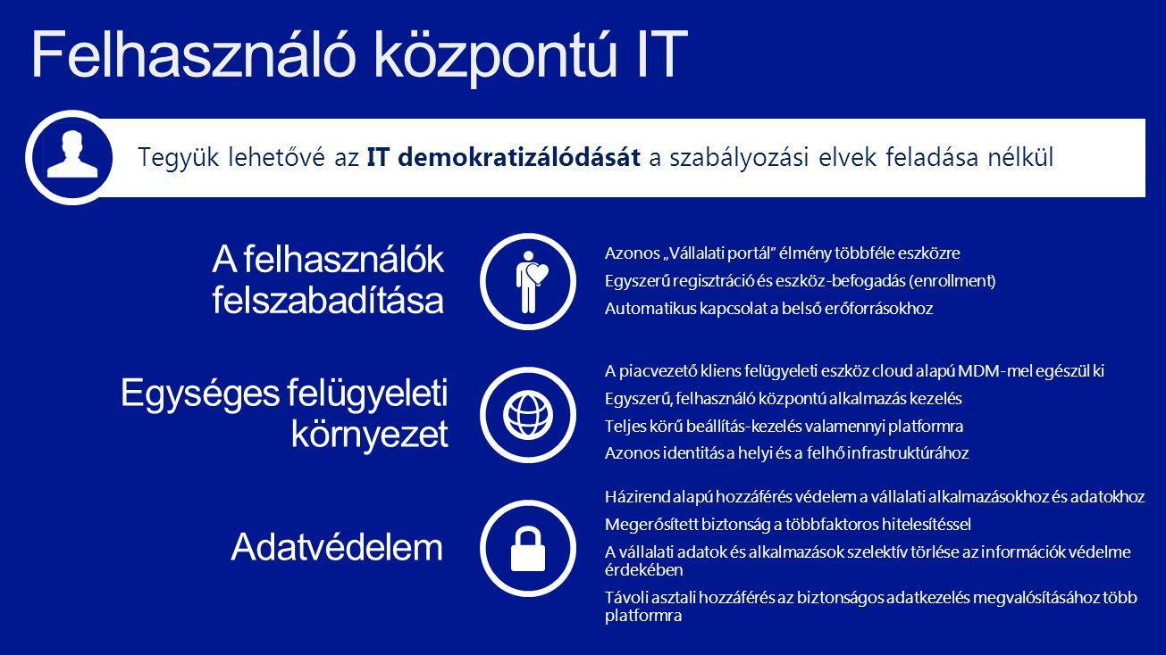 Felhasználó központú IT