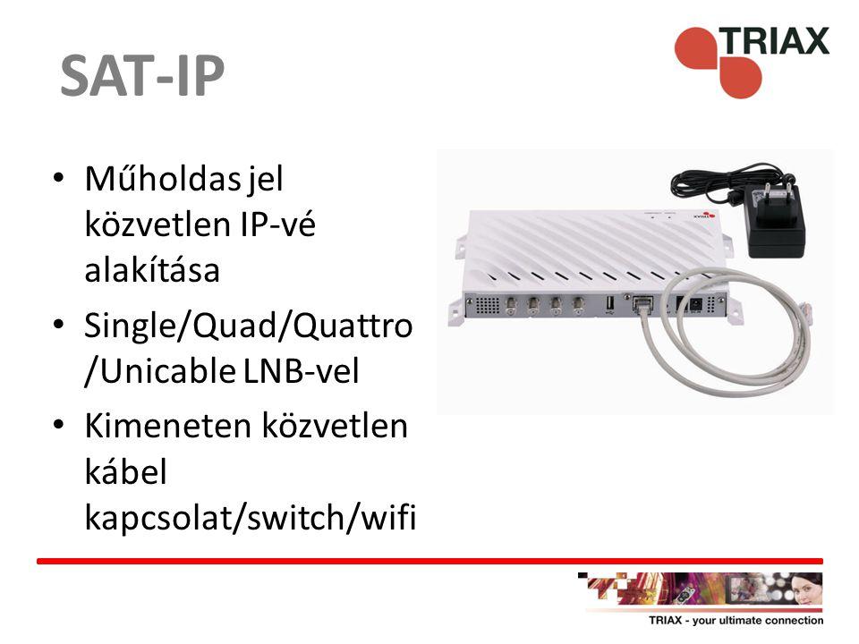 SAT-IP Műholdas jel közvetlen IP-vé alakítása