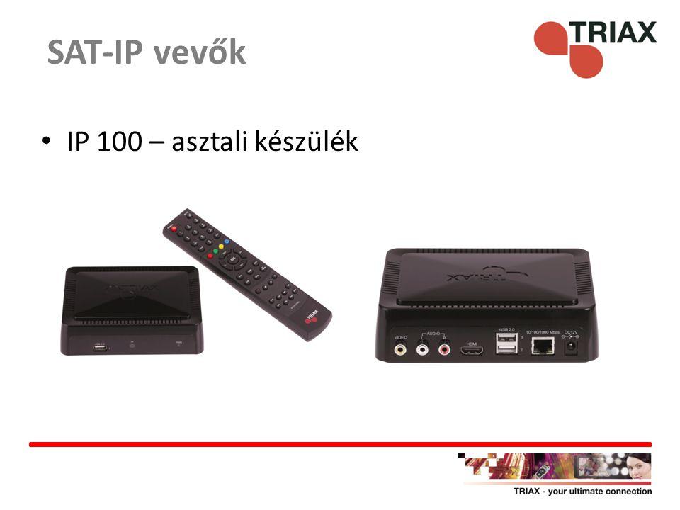 SAT-IP vevők IP 100 – asztali készülék