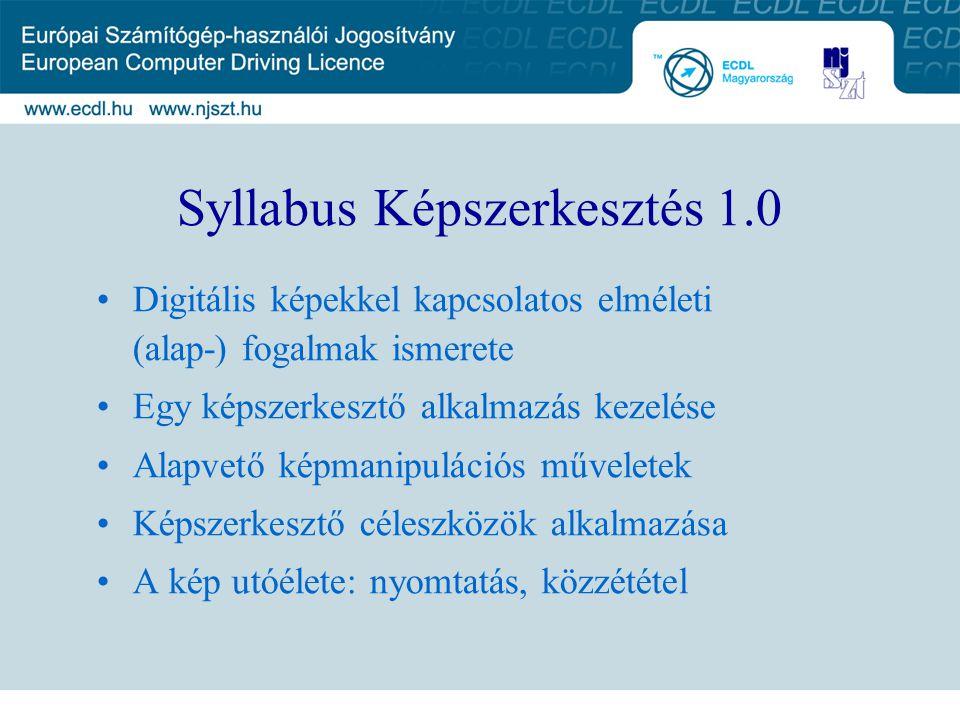 Syllabus Képszerkesztés 1.0