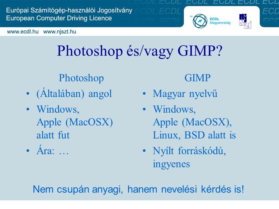 Photoshop és/vagy GIMP