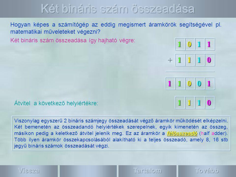 Két bináris szám összeadása