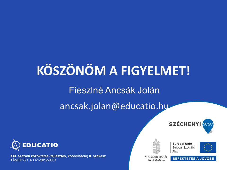 Fieszlné Ancsák Jolán ancsak.jolan@educatio.hu