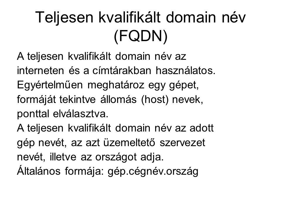 Teljesen kvalifikált domain név (FQDN)