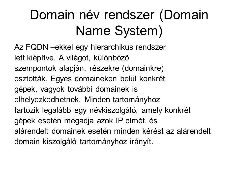 Domain név rendszer (Domain Name System)