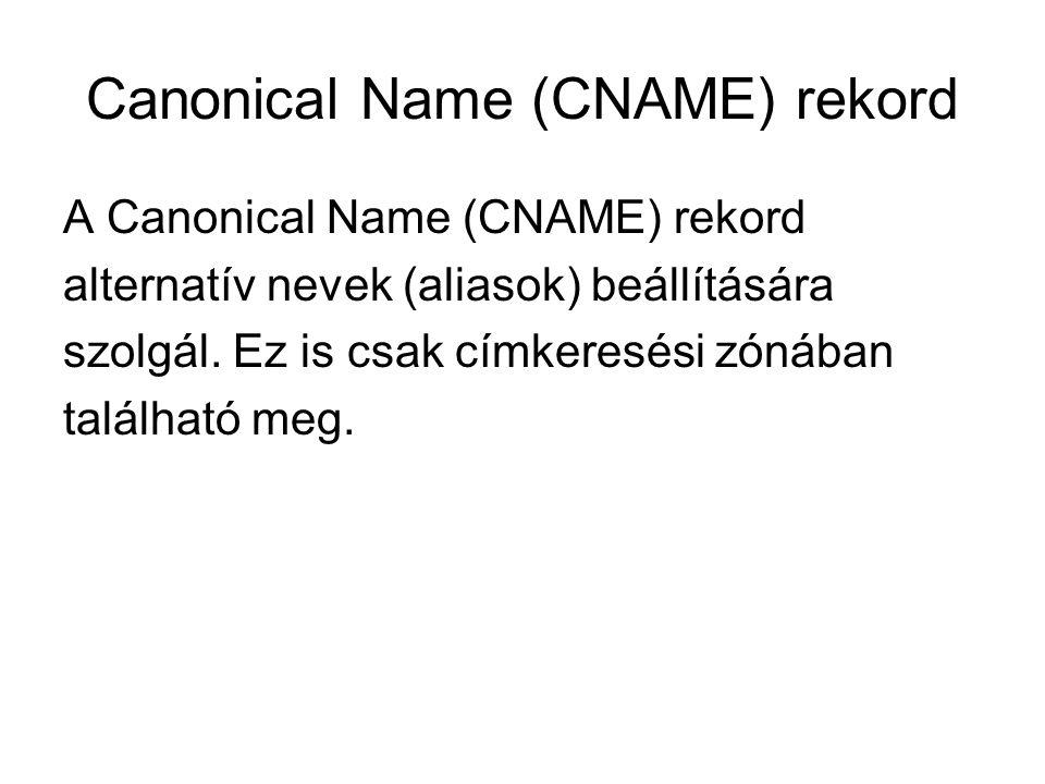 Canonical Name (CNAME) rekord